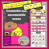 Countable and Uncountable nouns - interactive notebook