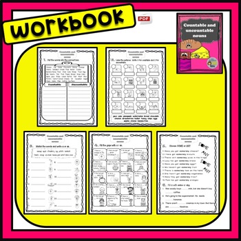 Countable and uncountable nouns - Workbook