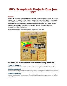 Countdown- 60's Scrapbook Project