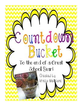 Countdown Bucket   A summer countdown activity
