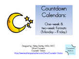 Countdown Calendars: one and two-week 5-day formats