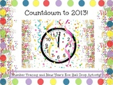Countdown Clocks to 2013 - 10 Seconds until The New Year Tracing Work Sheets!