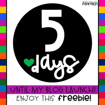 Countdown Day 5 FREEBIE from Education and Inspiration