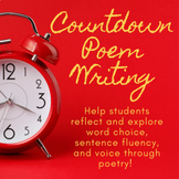 Countdown Poem Writing for the New Year!
