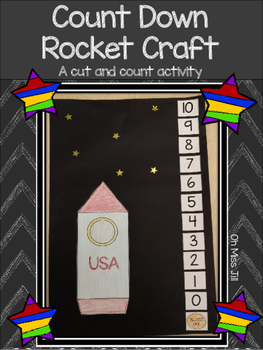 Countdown Rocket Craft and Cutting Activity