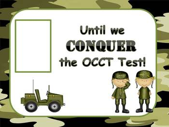 Countdown Sign for Test **EDITABLE**