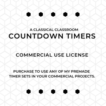 Countdown Timer COMMERCIAL USE LICENSE