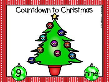 Countdown To Christmas:  EASY PREP Smash It!  Counting Back Play Dough Activity