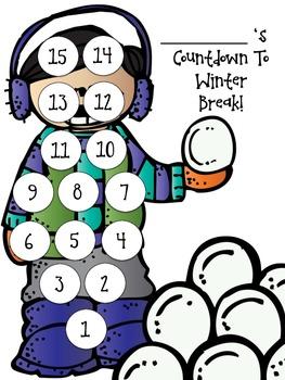Countdown To Winter Break FREEBIE!