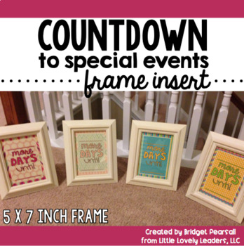 Countdown in a Frame Gift Pack