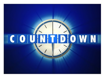 Countdown - literacy game for form time