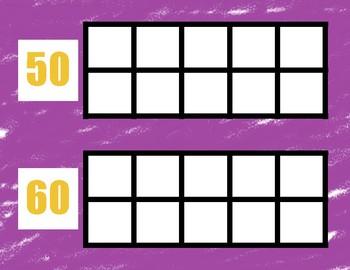 Countdown to 100 Days! Ten Frames 10-100