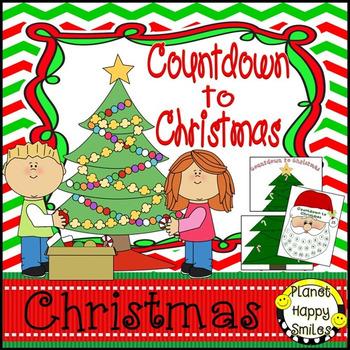 Christmas Activity ~ Christmas Tree and Santa Countdown to Christmas