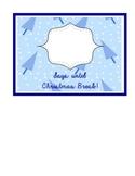 Countdown to Christmas Break blue christmas tree pattern