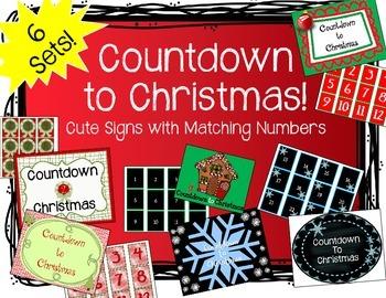 Countdown to Christmas Bulletin Board Set