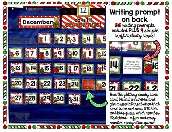 Countdown to Christmas! Calendar with Writing Prompts & Journal