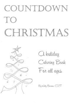 Countdown to Christmas, Christmas coloring book, Coloring