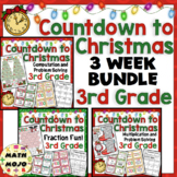 3rd Grade Countdown to Christmas Math: 3rd Grade Christmas Math 3 Week Bundle