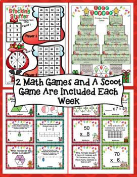 3rd Grade Countdown to Christmas Math: 3rd Grade Christmas Math 3 Week Bundle