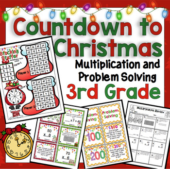 Countdown to Christmas Math: 3rd Grade Multiplication and