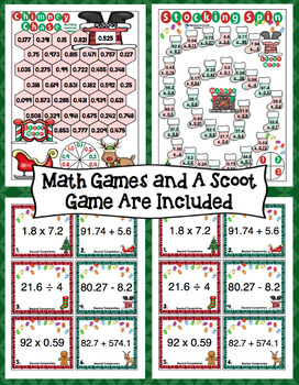 Countdown to Christmas Math: 5th Grade Decimals