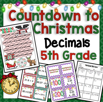 Countdown to Christmas Math: 5th Grade Decimals