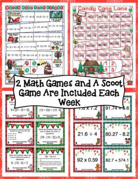 Countdown to Christmas Math: 5th Grade Math 3 Week Mega Bundle