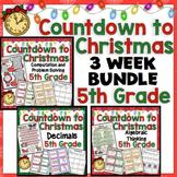 5th Grade Countdown to Christmas Math: 5th Grade Math 3 Week Bundle