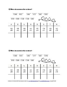 Countdown to Christmas Math Puzzles: Seasonal Jokes