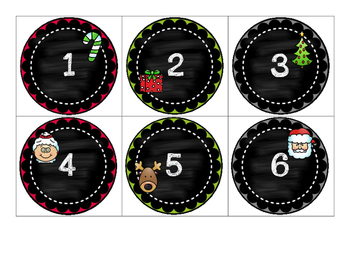 Countdown to Christmas Muffin Tin Covers - 12 Day Countdown