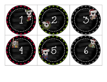 Countdown to Christmas Muffin Tin Covers - 12 Day Countdow
