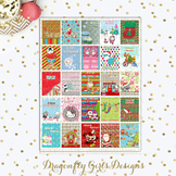 Countdown to Christmas Printable Planner Sticker Large Box