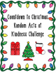 Countdown to Christmas Random Acts of Kindness Challenge