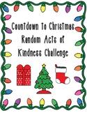 Countdown to Christmas Random Acts of Kindness Challenge