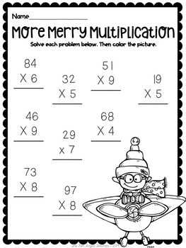 Countdown to Christmas ELA & Math No Prep Printables