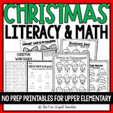 Christmas ELA & Math No Prep Printables