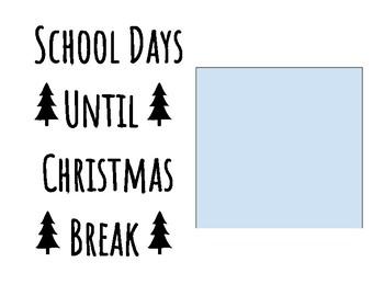 Countdown to Christmas/Winter Break