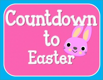 Countdown to Easter Bulletin Board Set / Counting