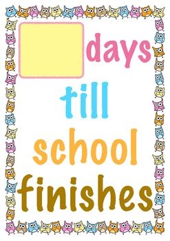 Countdown to End of School {FREEBIE}