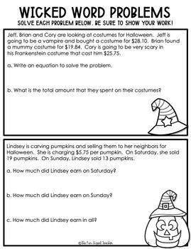 Halloween Literacy and Math Printables - No Prep