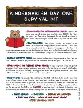 Countdown to Kindergarten Survival Kit