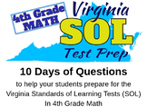 Countdown to SOL 4th Grade Math, Virginia Standards Practice