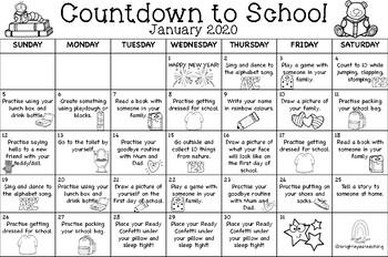 Countdown to School Calendar 2020