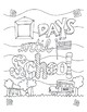Countdown to School DESIGN Coloring Page