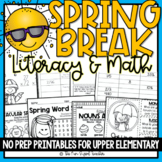 Countdown to Spring Break ELA & Math No Prep Printables