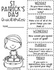 Countdown to St. Patrick's Day ELA & Math No Prep Printables