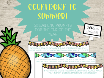 Countdown to Summer - 20 End of Year Writing Prompts