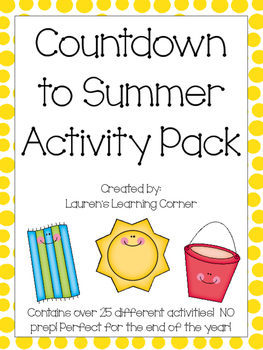 Countdown to Summer Activity Pack