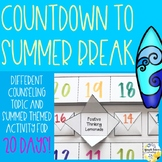 Countdown to Summer Break - School Counseling Summer Activity Pack