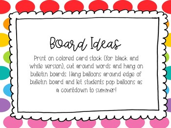 Countdown to Summer Bulletin Board Quotes
